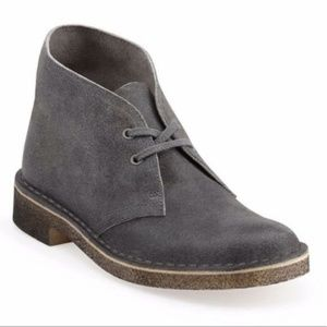 Men's Clarks Desert Chukka Boots distressed gray