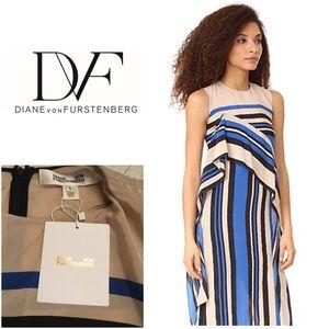 New Diane von Furstenberg Silk Striped Dress