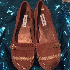 Steve Madden Moccasins Suede and Metallic