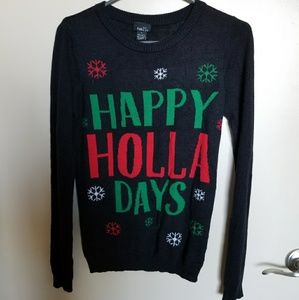 Happy Holla Days Christmas Sweater Ugly