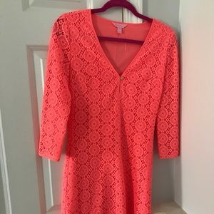 Lilly Pulitzer Coral Lace Dress