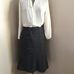 Ann Taylor LOFT Wool Blend Tweed Skirt
