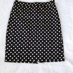 J. Crew Cotton Polka Dot Skirt