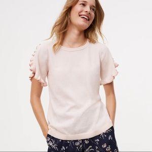 Ann Taylor LOFT Ruffle Sweater