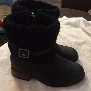 Authentic UGG Black Boots Size 5