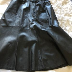 Women's leather skirt (plus size)