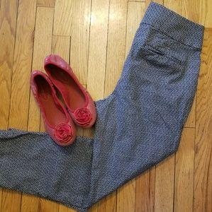 LOFT Gray Design Julie Ankle Pant - size 8