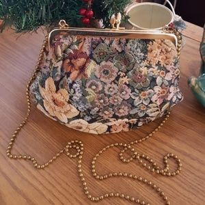 Vintage Floral Tapestry Purse By Shirl Miller
