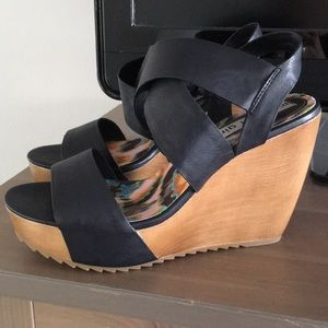 Madden Girl wedges worn once Size 7.5