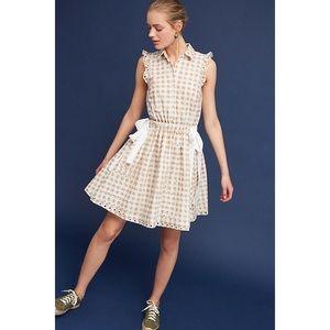 Shoshanna Gingham Double-Tie Dress, NWT size 8