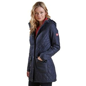 Barbour Kirkby Long Fleece Lined Quilted Jacket