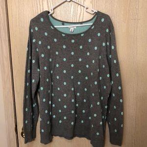 Mint Polka Dot Sweater