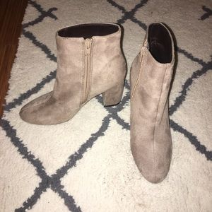 Tan Ankle Booties from Zara