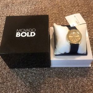 Movado Bold blue/Gold Watch