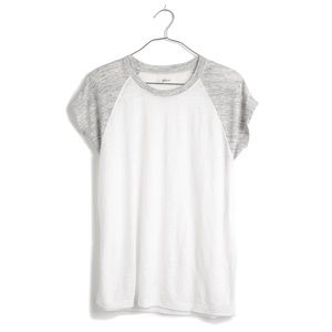 SALE Madewell Linen Ringer Muscle Tee sz L ✨