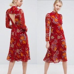 ASOS Midi Dress in Botanical Rose Floral
