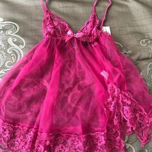 Fredericks of Hollywood pink lingerie