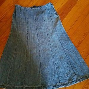Womens Denim skirt