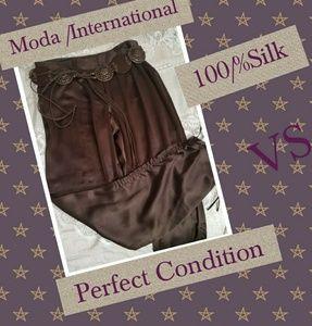 V/S Moda International 100/%silk pants