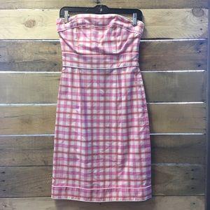 Tibi Pink Plaid Dress