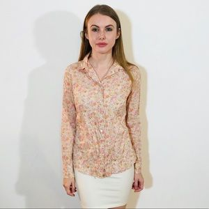 J. CREW THE PERFECT SHIRT PINK FLORAL PRINT #L97