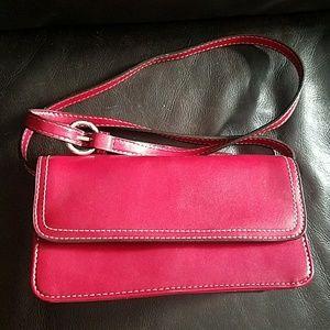 Red Villager Liz Claiborne pocketbook purse NWOT