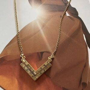 J.crew Crystal chevron pendant necklace, NWT