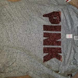 NWT Victoria's Secret PINK sequined tee