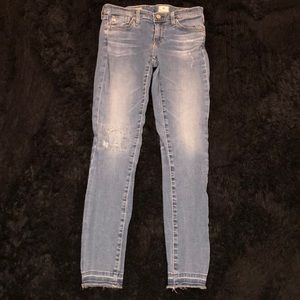AG Size 26 Legging Ankle Faded Jean