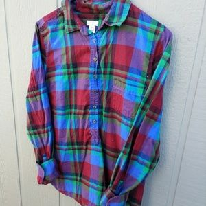 J. Crew plaid shirt women's size Medium