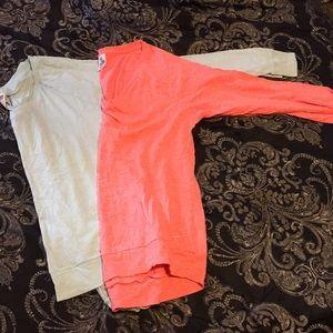 2 long sleeve Victoria's Secret shirts