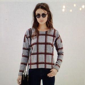 Madewell plaid touchtone sweatshirt.
