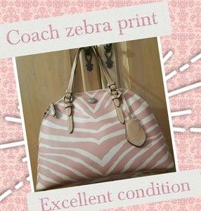 Coach zebra print bag