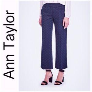 🎄Ann Taylor Eyelet Wide Leg Crop Pants