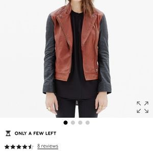 NWOT Madewell Leather backroad jacket