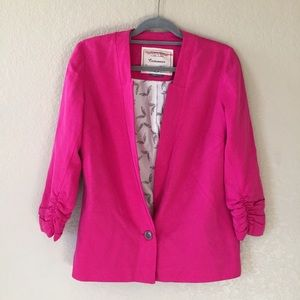 Anthropologie Cartonnier Pink Blazer