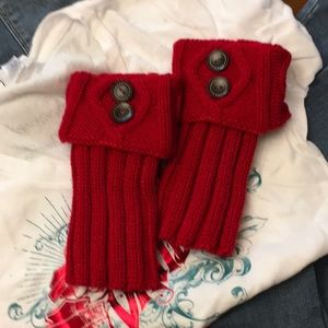 NWOT RED BOOT CUFFS