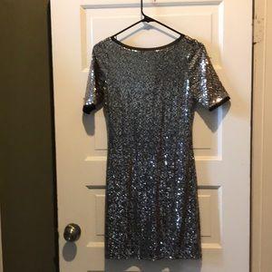 White House black market sequin dress size XS