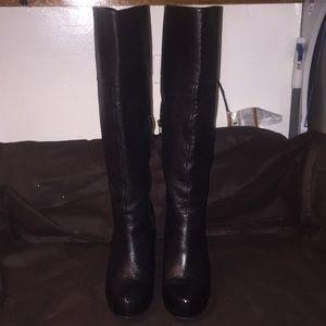 Steve Madden black heel boots