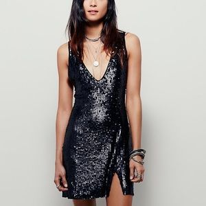 Free People Sequin Slit Dress