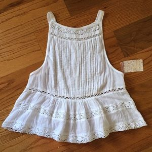 Free People Cotton Top - White