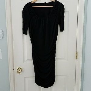 Black scrunchy dress from the Limited