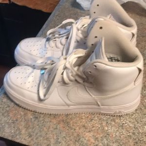 White Air Force one Nike's