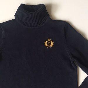 RALPH LAUREN REGAL Embroidered turtleneck  sweater