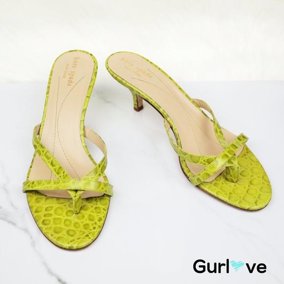 9117bdef445c kate spade Shoes - Kate Spade New York Green Print Size 7.5
