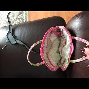 Vera Bradley pink and green make up bag