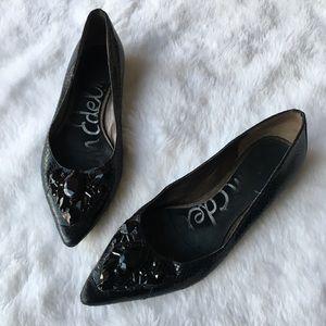 Sam Edelman Icelynn Jewel Pointy Toe Flats Shoes