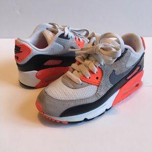Nike Air Max 90 Infrared Preschool Size 12c