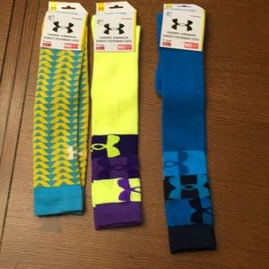 Lot of 3 Under Armour Performance Socks