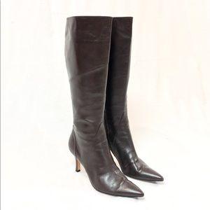 Van Eli Brown Leather Heeled Boots